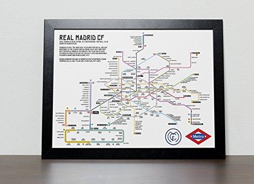 Real Madrid Metro Tube Subway Poster