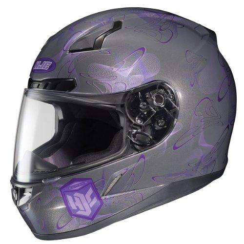 HJC CL-17 Mystic Gray/Purple MC-11 Full Face Motorcycle Helmet - Small