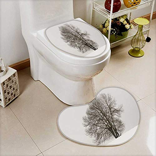 also easy Non-Slip Bathroom Mats Set winter landscape with tree and snow in navarra spain horizontal Customized Heart shaped foot pad by also easy
