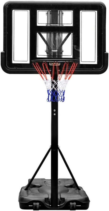 WENZHE バスケットゴール ポータブル バスケットボール用ゴール バスケットボード バスケットボール スタンド 家庭 子 アウトドア モバイル シューティングラック 高さ調整可能 59-83in