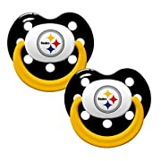 NFL Football 2014 Baby Infant Pacifier 2-Pack - Pick Team (Pittsburgh Steelers - Holes)