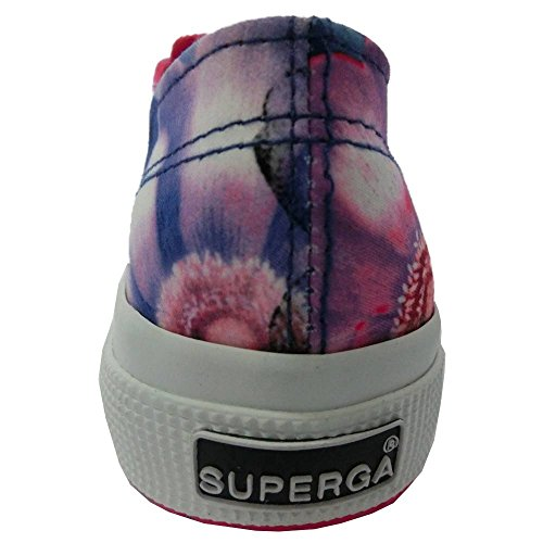 Le Superga - 2750-fabricfanplw - ExoticFlow Blu-Fuxia - 41