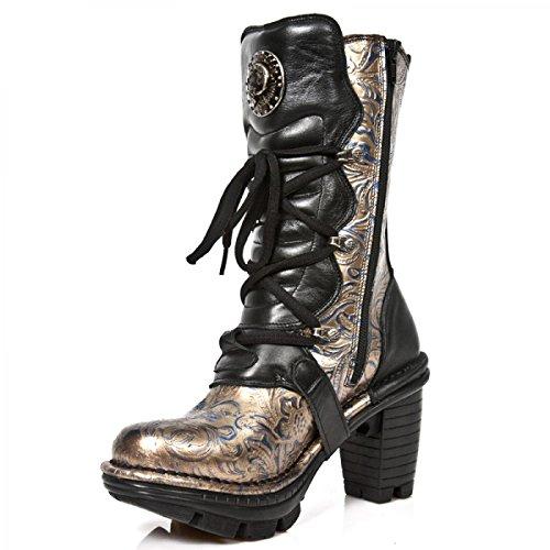 New Rock Støvler M.neotr005-c1 Gotiske Hardrock Punk Dame Stiefel Sort obZwCyod8r