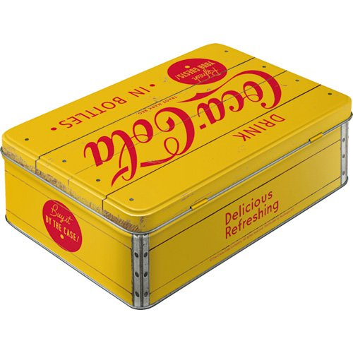 Nostalgic-Art-Coca-Cola-Logo-Yellow-bote-de-almacenamiento-plana