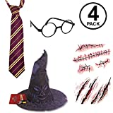 Rubie's Harry Potter Deluxe Costume Accessory- Tie, Glasses, Scar and Sorting Hat