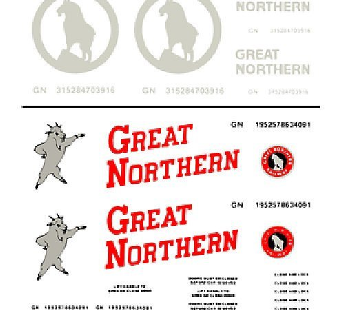 Woodland Scenics Great Northern Box Cars Dry Transfer Decals