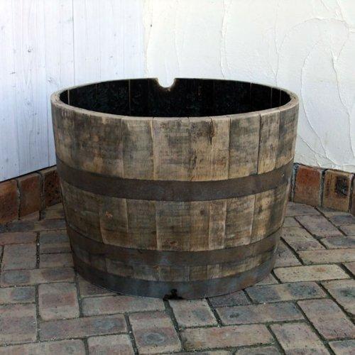 サントリー樽ものがたり:古樽半切りプランター180リットル[鉢][サントリー樽ものがたり] ノーブランド品 B01HZ29AFG