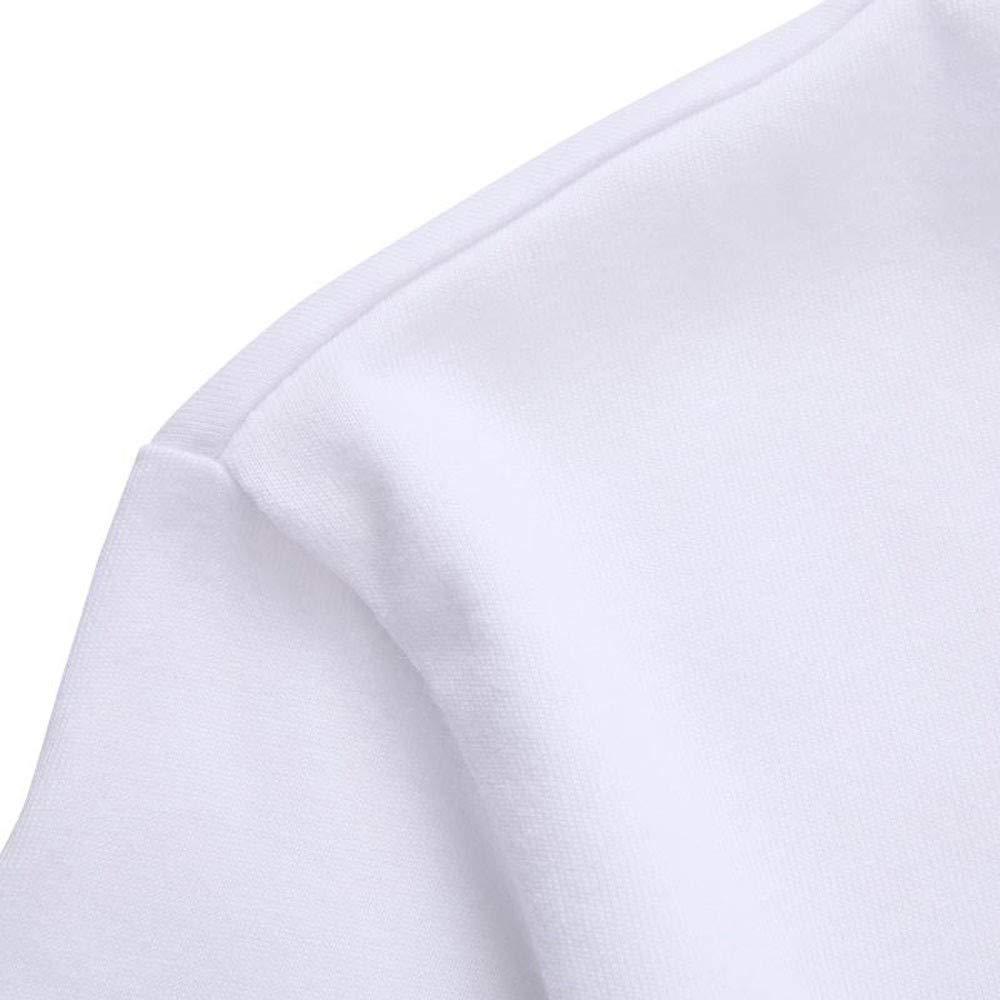 POHOK Blouse for Men Summer Men Fashion Printed Flag Red and Blue T-Shirt Short Sleeve T Shirt Blouse
