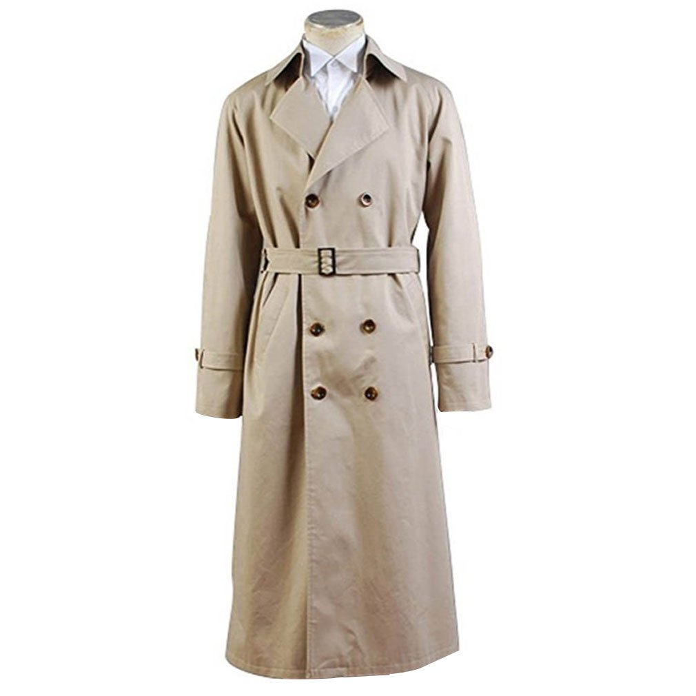 Holran Supernatural Cosplay Costume Angel Castiel Male Trench Coat (Custom Made)