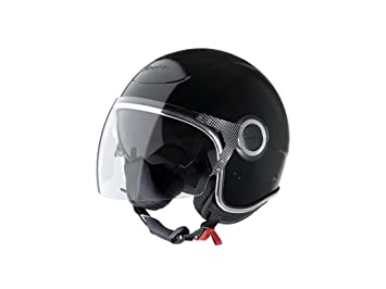 Vespa VJ - Casco de moto, color negro