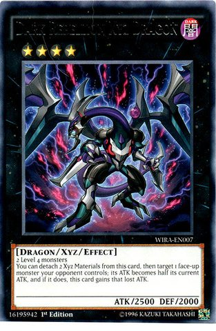 Yu-Gi-Oh! - Dark Rebellion Xyz Dragon - WIRA-EN007 - Rare- 1st Edition (WIRA-EN007) - Wing Raiders - 1st Edition - Rare