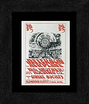 Jefferson Airplane Big Brother and the Holding Company - Losers South San Jose 1966 Framed and Mounted Print - 20x18cm