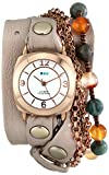 La Mer Collections Women's LMMULTI2000 Brazil Stones Chain Wrap Watch