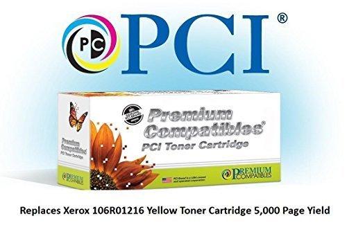 106r01216 Toner (Tinta 106R01216-PCI y cartucho de reemplazo de tóner para impresoras Xerox Phaser, Amarillo)