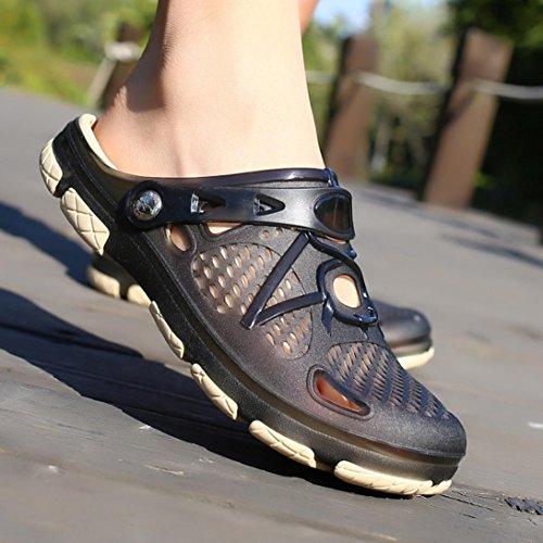 Challyhope Men Shoes Garden Clogs Anti-Slip Beach Shower Sandals Slip on Massage Outdoor Walking Summer Slippers