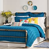 The Pioneer Woman Quilt Bedding Bedspread Comforter Double Stitch Blue Red (F/Q Quilt 90 x 90, Peacock Blue)