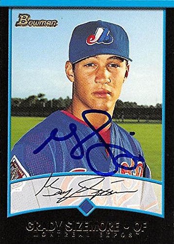 Autograph Warehouse 244644 Grady Sizemore Autographed Baseball Card - Montreal Expos44; FT 2001 Bowman - No. 342 Rookie
