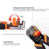 Wire Stripper, Self-Adjusting 8.4 Inch Cable Cutter Crimper, 3 in 1 Multi Pliers for Wire Stripping, Cutting, Crimping