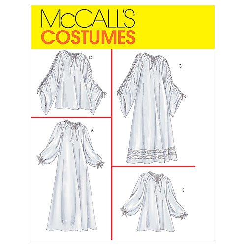 McCall's Patterns M4091 Misses' Chemise in 2 Lengths, Size Y (XSM-SML-MED)