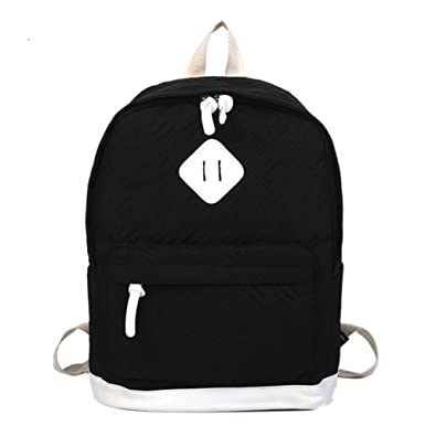 2610c328b1ed 2018 New Solid Color Bag Casual Teenage Girls Boys Backpack Travel Backpack  Student Fashion School Bag