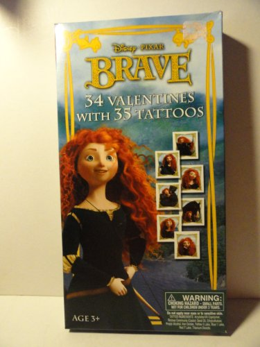 Disney Pixar Brave Valentines for Sharing - 34 Valentines with 35 (Brave Tattoos)