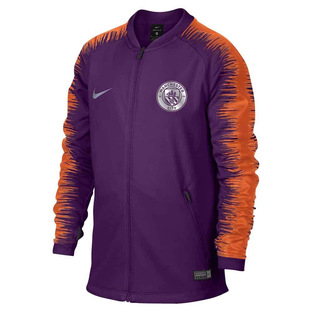 7127430a Amazon.com : Nike 2018-2019 Man City Anthem Jacket (Night Purple ...