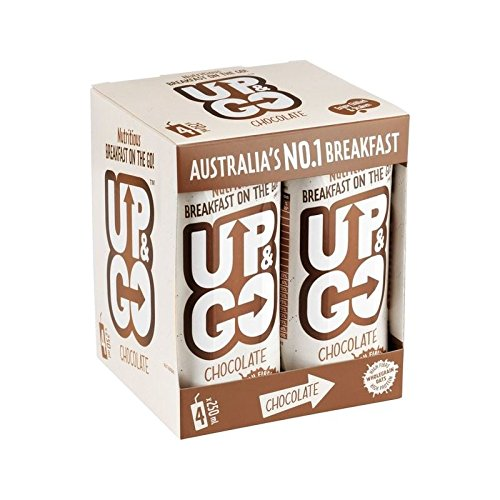 Up&Go Chocolate Breakfast Drink with Oats 4 x 250ml - Pack of 6 by GOUP