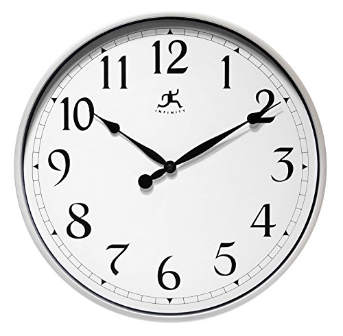 Infinity Instruments Wall Office Clock, 18, Silver