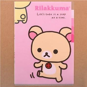 Carpeta A4 plástico 5 apdo. kawaii osa blanca Rilakkuma: Amazon.es: Juguetes y juegos