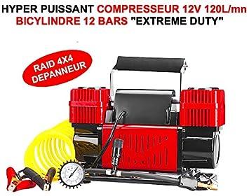 LCM2014 - Compresor de 2 cilindros (12 V, 120 l/min, indestructible