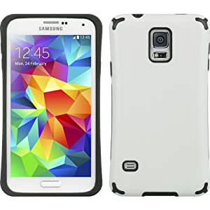 White Elipse Hybrid Gel Case for Samsung Galaxy S5 + Keychain Tool