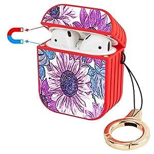 Amazon.com: Wireless Airpod Case Purple Flowers