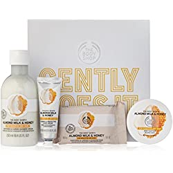 The Body Shop Almond Milk and Honey Essential Selection Body Care Gift Set, 4 pc. Bath and Body Set