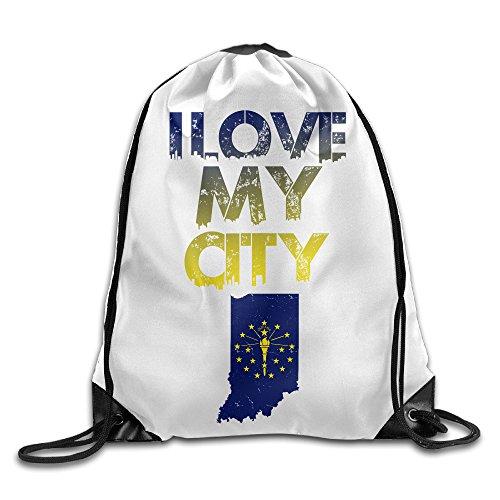 PRIMEEE Indiana Drawstring Backpack Sack Bag