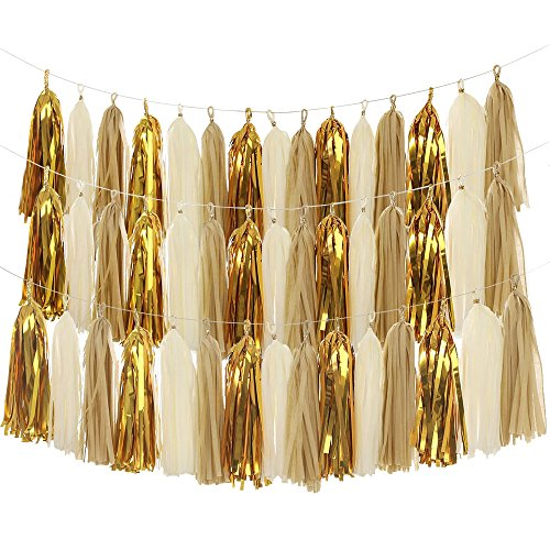 Great Features Of Tissue assels, MerryNine DIY Tassel Garland Banner for Wedding, Baby Shower, Event...