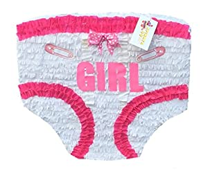 Charming Baby Girl Diaper Pinata Baby Shower Party!