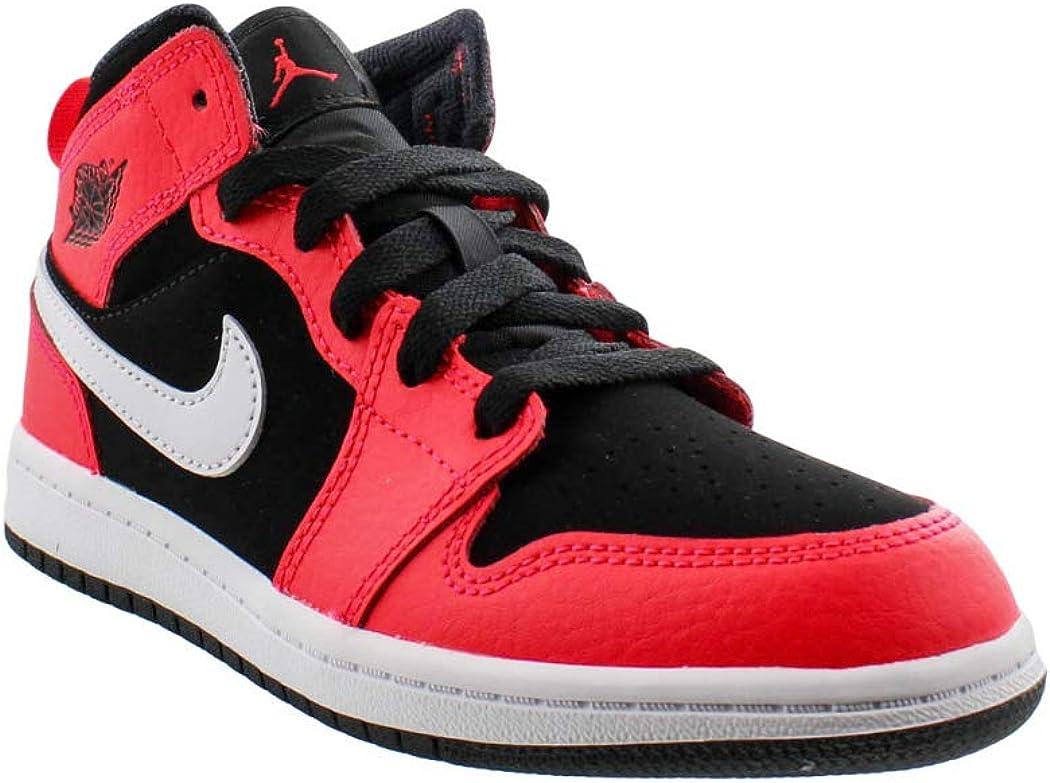 Jordan 1 Mid Black/Infrared 23-White