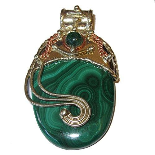 Malachite Pendant 55 Royal Goddess Green African Congo Crystal Genuine Healing Gemstone 3