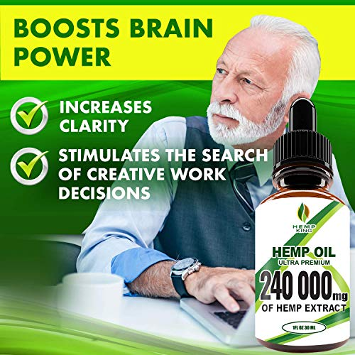 51KpH2yrdBL - Hemp Oil Drops 240 000 mg, 100% Natural Extract, Anti-Anxiety and Anti-Stress, Natural Dietary Supplement, Rich in Omega 3&6 Fatty Acids for Skin & Heart Health, Vegan Friendly