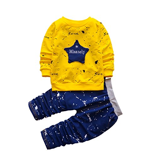 2pcs Baby Boy Clothes Set Infant Outfits Toddler Sports Hoodie + Pants, Long Sleeve, Pockets (4T, (Quote Kids Hoodie)