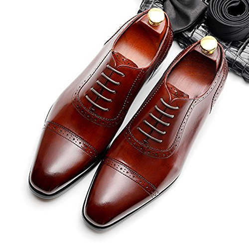 Uomo Scarpe Cocktail Party Reception Scarpe Oxford Uomo Brogue Per Classic Casual Da Business Red Estive Uomo Hx7qP48Hw