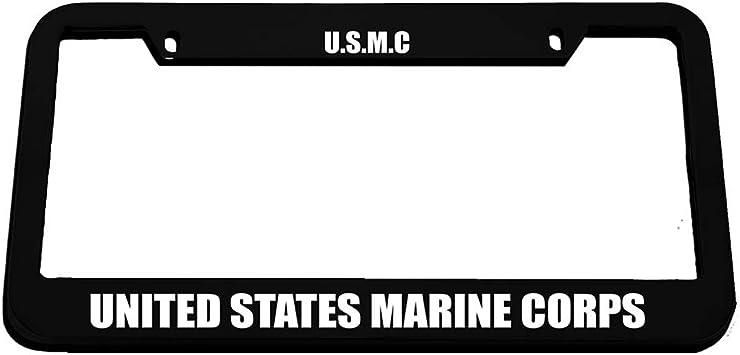 Black United States Marine Corps License Plate
