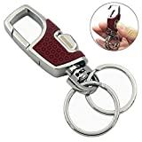 Automotive : Fencher Key chain with (2 Extra Key Rings and Gift Box) Heavy duty car keychain for Men and Women -Rose