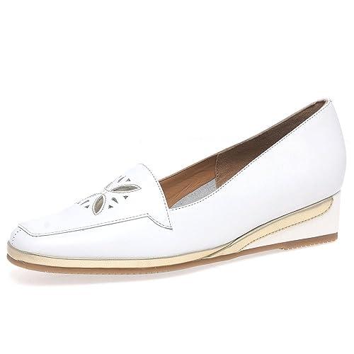 Van Dal Verona Iv Womens Cuña Talón Mocasines 6.5 UK/40 EU Blanco/oro: Amazon.es: Zapatos y complementos