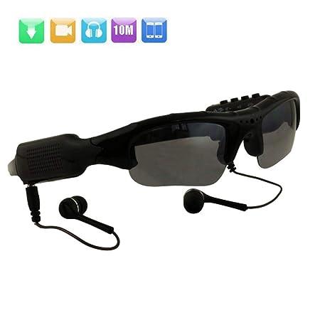 WOTUMEO Multifuncionales Gafas De Sol MP3 Mini DV DVR De La Cámara De Vídeo Espía De Los Vidrios De La Cámara Espía De Los Vidrios De Conducción + 8 ...