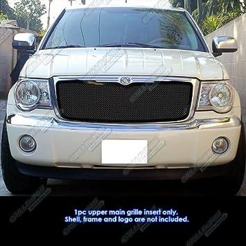 Fits 2007-2009 Chrysler Aspen Stainless Steel Black Mesh Grille Insert