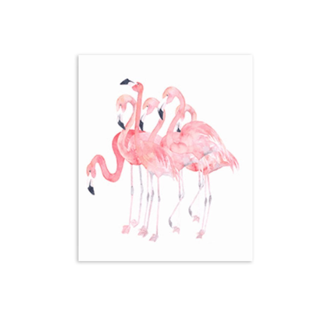 Bluelans® Oil Painting Flamingo Prints on Canvas Modern Canvas Pictures Prints Wall Art Decor for Living Room Bedroom Home Decoration MH6998