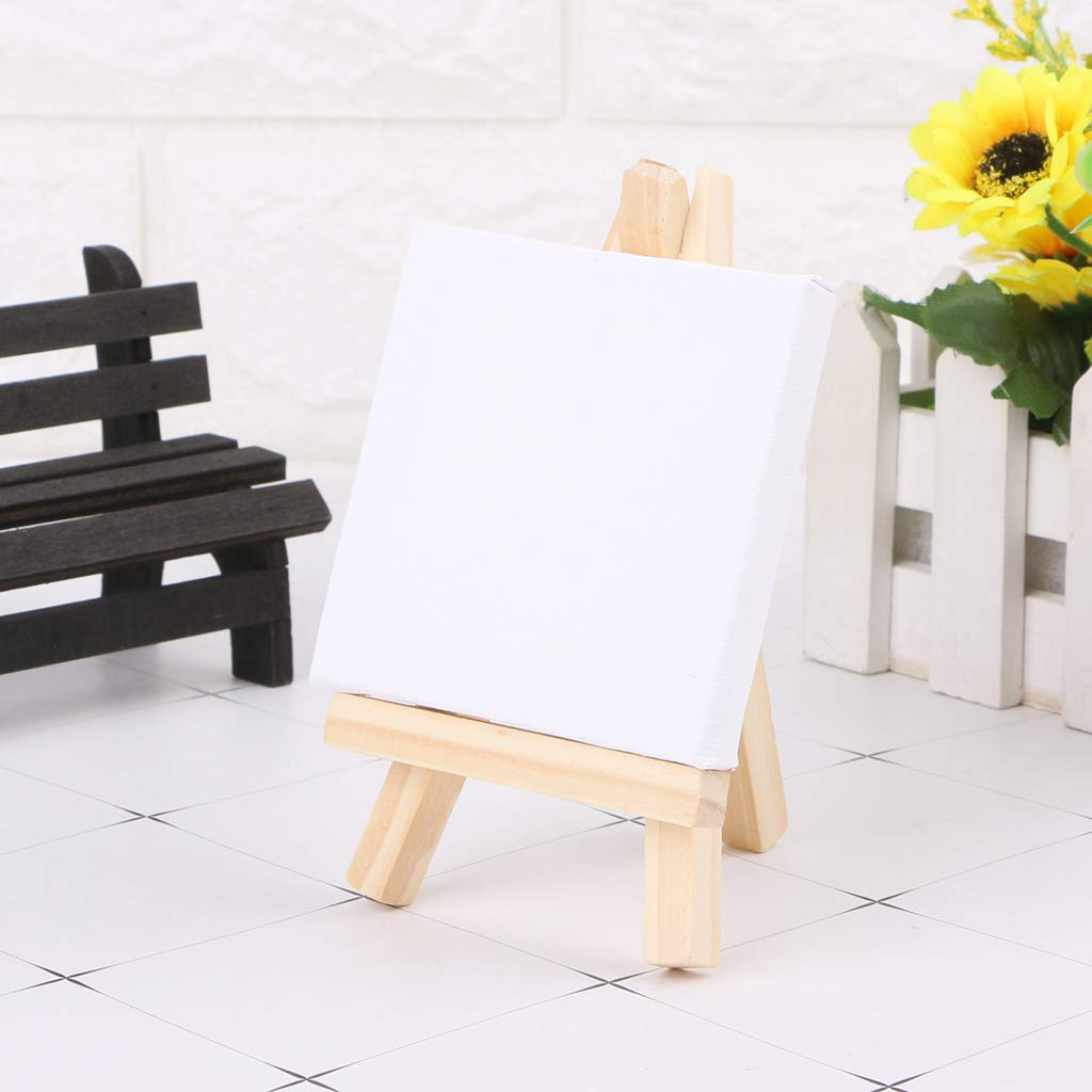 Mini Canvas e cavalletto in Legno Naturale per la Pittura Artistica Junlinto