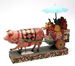 Best Quality- Jim Shore Pig Pulling Cart