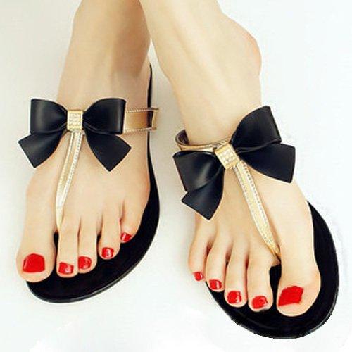 chanclas flop bow planas flip sandalias dia jelly verano te toe xYWZzdq4ww